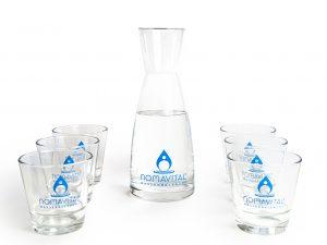 Nomavital Karaffe und Gläser