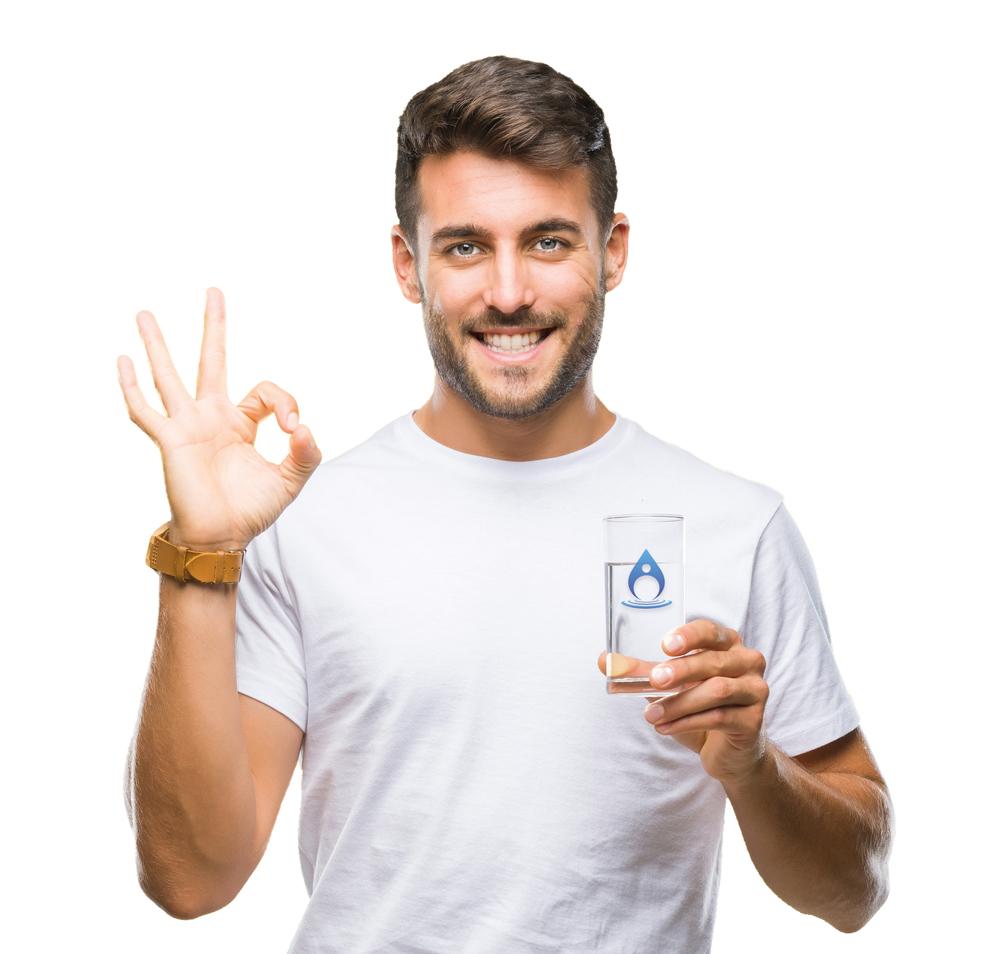 Nomavital Mann mit Glas